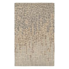 Couristan Super Indo-Natural Rosalyne Geometric Wool Rug