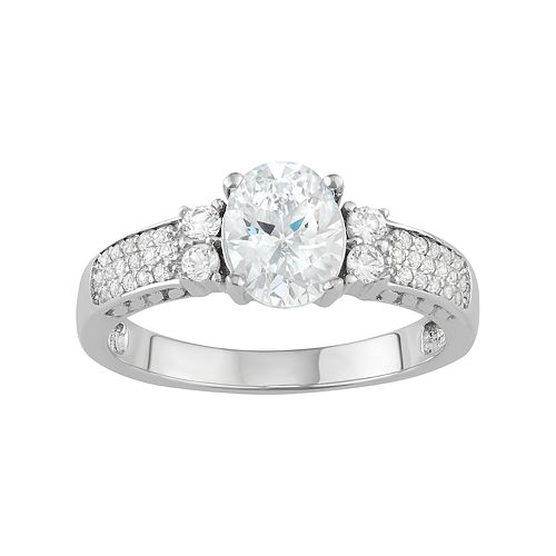 Sterling Silver Cubic Zirconia Pave Ring