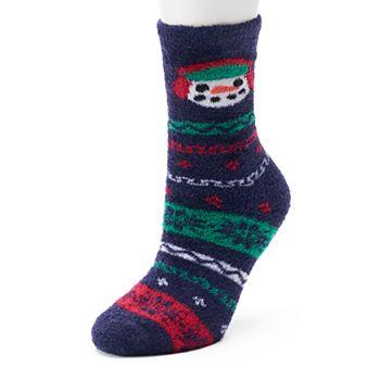 Women's Jammies For Your Families Snowman Fairisle Slipper Socks