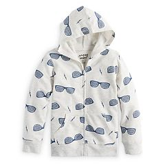 Boys 4-10 Jumping Beans® Patterned Zip Hoodie