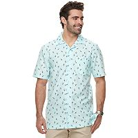 Big & Tall Haggar Regular-Fit Button-Down Camp Shirt