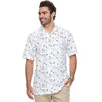 Big & Tall Haggar Regular-Fit Button-Down Camp Shirt