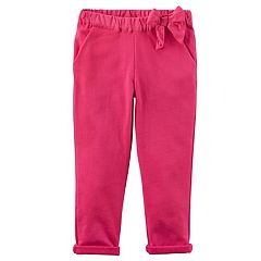 Baby Girl Carter's Bow French Terry Pants