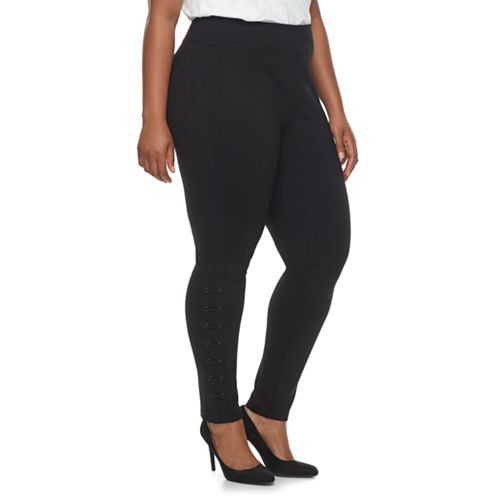 Plus Size Rock & Republic® Lace-Up Legging