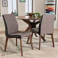 Baxton Studio Kimberly Mid-Century Dining Chair 2-piece Set