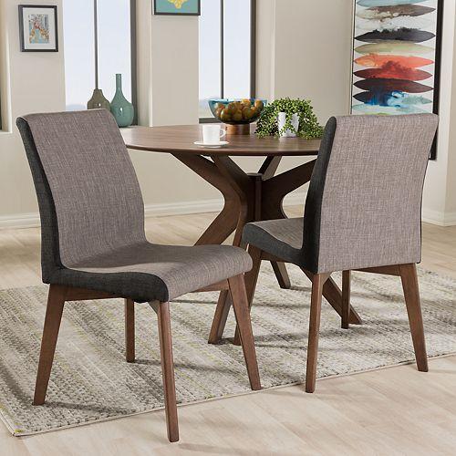 Baxton Studio Kimberly Mid-Century Dining Chair 2-piece Set
