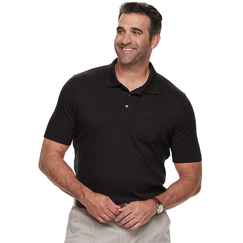 Big & Tall Croft & Barrow® Classic-Fit Easy-Care Interlock Pocket Polo
