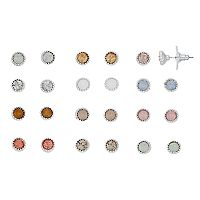 LC Lauren Conrad Milgrain Bezel Nickel Free Stud Earring Set