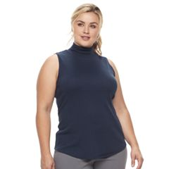 Plus Size Croft & Barrow® Sleeveless Mockneck Tank Top