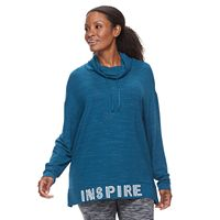 Plus Size Tek Gear® Cowlneck Pullover Top