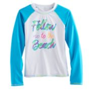 "Girls 7-16 SO® ""Follow Me To The Beach"" Rashguard"