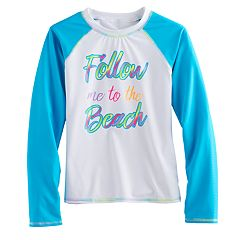 Girls 7-16 SO® 'Follow Me To The Beach' Rashguard
