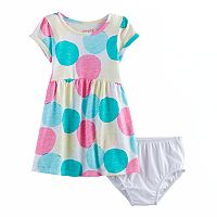Baby Girl Jumping Beans® Roll Cuff Graphic Dress