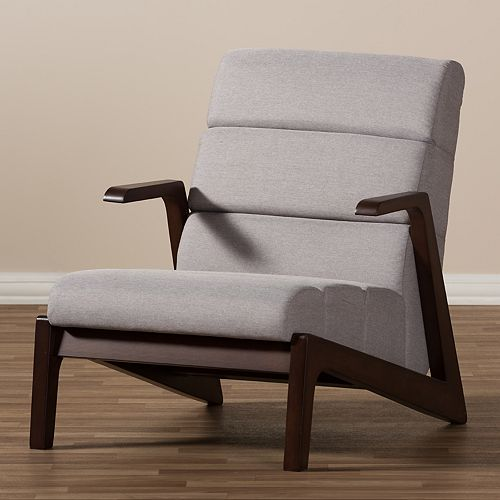 Baxton Studio Vino Mid-Century Arm Chair