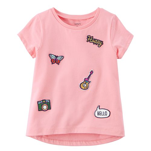 Baby Girl Carter's Embellished Patch Short-Sleeve Tee