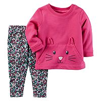 Baby Girl Carter's Character Face Pullover & Print Leggings Set