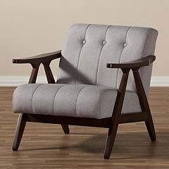 Baxton Studio Enya Mid-Century Arm Chair