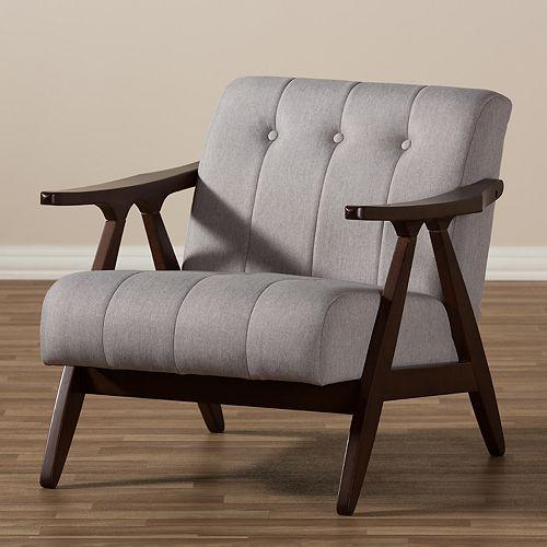 Baxton Studio Enya Mid-Century Arm Chair