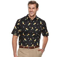 Big & Tall Haggar Classic-Fit Stretch Woven Casual Button-Down Shirt