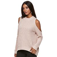 Women's Jennifer Lopez Cold-Shoulder Crewneck Sweater