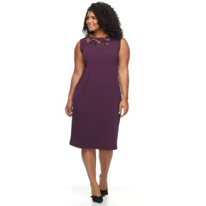Plus Size Maya Brooke Bell Sleeve Jacket & Dress Set