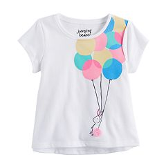 Baby Girl Jumping Beans® Balloon Bunny Rabbit Graphic Tee