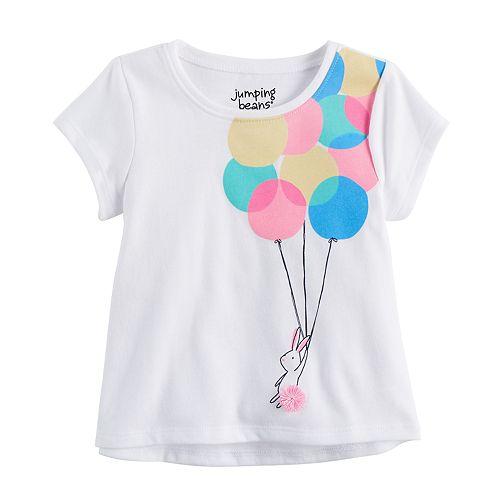 Baby Girl Jumping Beans® Balloon Bunny Rabbit Graphic Tee