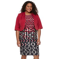 Plus Size Maya Brooke Jacket and Dress Set