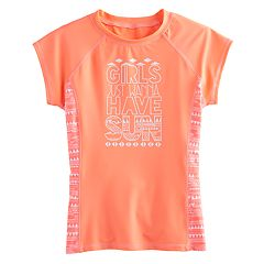 Girls 7-16 SO® Coral Tribal 'Girls Just Wanna Have Sun' Rashguard