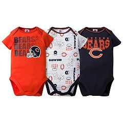 Baby Chicago Bears 3-Pack Bodysuit Set