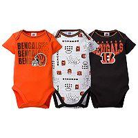 Baby Cincinnati Bengals 3-Pack Bodysuit Set