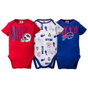 Baby Buffalo Bills 3-Pack Bodysuit Set
