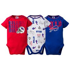 Baby Buffalo Bills 3-Pack Bodysuit Set
