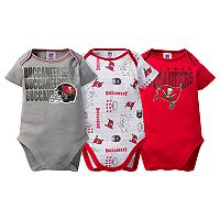 Baby Tampa Bay Buccaneers 3-Pack Bodysuit Set