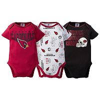 Baby Arizona Cardinals 3-Pack Bodysuit Set