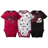Baby Arizona Cardinals 3-Pack Bodysuit Set
