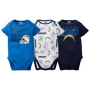 Baby Los Angeles Chargers 3-Pack Bodysuit Set