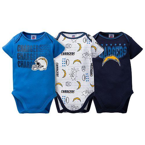 Baby Los AngelesChargers 3-Pack Bodysuit Set
