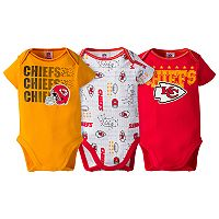 Baby Kansas City Chiefs 3-Pack Bodysuit Set