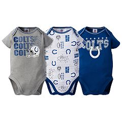 Baby Indianapolis Colts 3-Pack Bodysuit Set