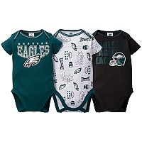 Baby Philadelphia Eagles 3-Pack Bodysuit Set