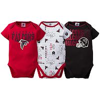 Baby Atlanta Falcons 3-Pack Bodysuit Set