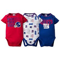 Baby New York Giants 3-Pack Bodysuit Set