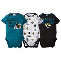 Baby Jacksonville Jaguars 3-Pack Bodysuit Set