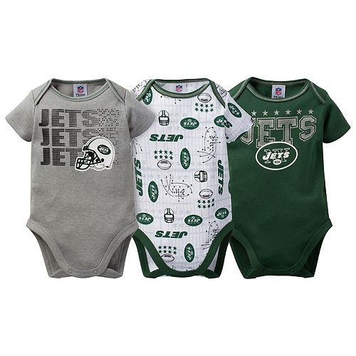 Baby New York Jets 3-Pack Bodysuit Set