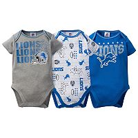 Baby Detroit Lions 3-Pack Bodysuit Set