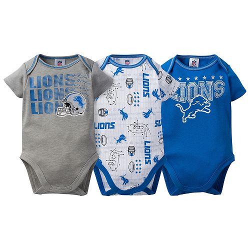 Baby Detroit Lions 3-Pack Bodysuit Set pantip