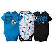 Baby Carolina Panthers 3-Pack Bodysuit Set