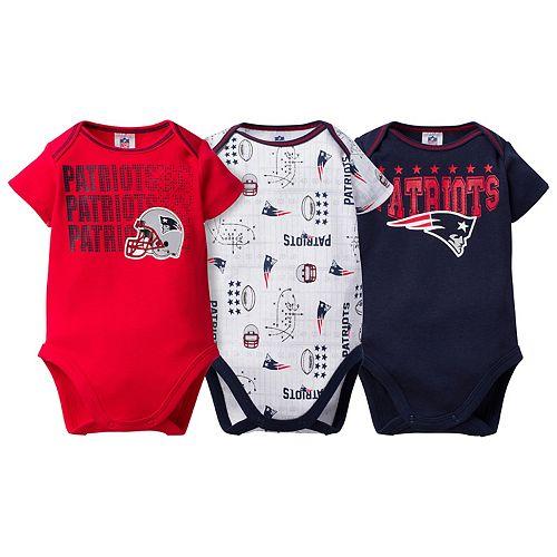 Baby New EnglandPatriots 3-Pack Bodysuit Set