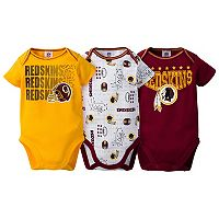 Baby Washington Redskins 3-Pack Bodysuit Set